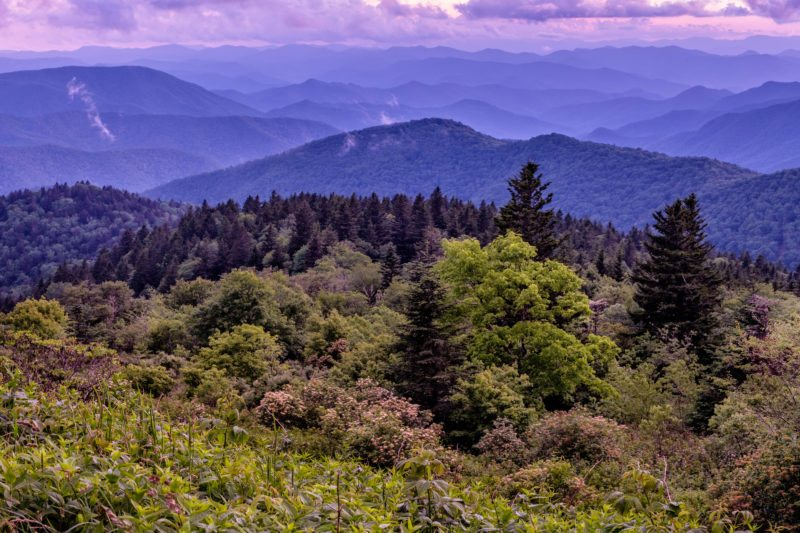 """""""Cowee Mountains Overlook, Milepost 430.7"""" by Danny Wilson"""