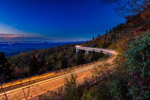 """Linn Cove Viaduct at Nighttime, Milepost 304.4"" by Mike Koenig"