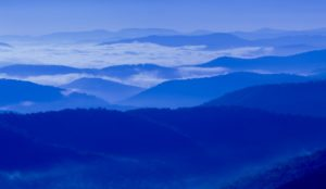 """Morning Blues at a Parkway Overlook near Asheville"" by Matthew Barron"