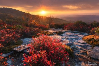 """Sunrise at Rough Ridge Trail, Milepost 302.8"" by David Nguyen"