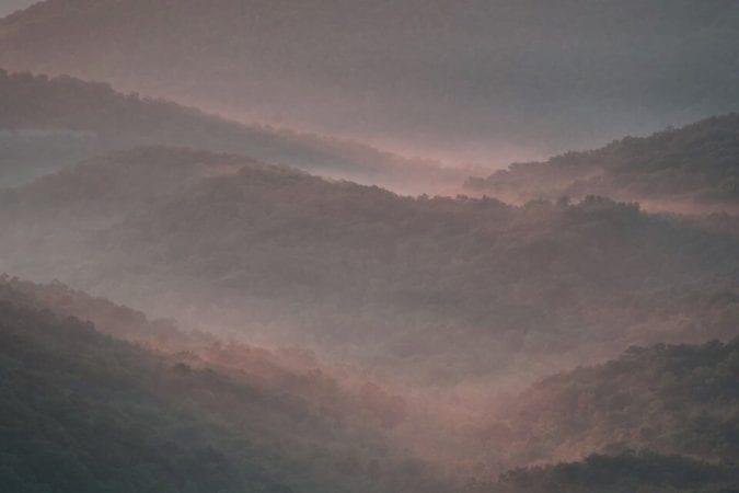 """""""Mills River Valley Overlook, Milepost 404.5"""" by Aaron Bland"""